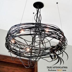 tarz_aydinlatma_nest_spiral_tel_kafes_yuva_avize_sarkit_lamba_resim1